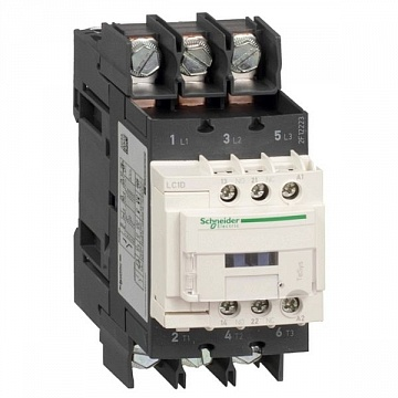 Контактор  TeSys LC1D 3P 40А 400/60В DC 18.5кВт |  код.  LC1D40A6ND |  Schneider Electric